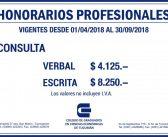 Descarga Afiche – Honorarios Profesionales Vigentes