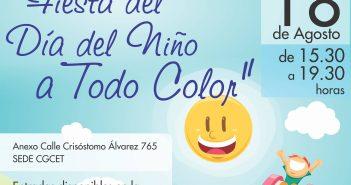 Fiesta del día del Niño a todo color