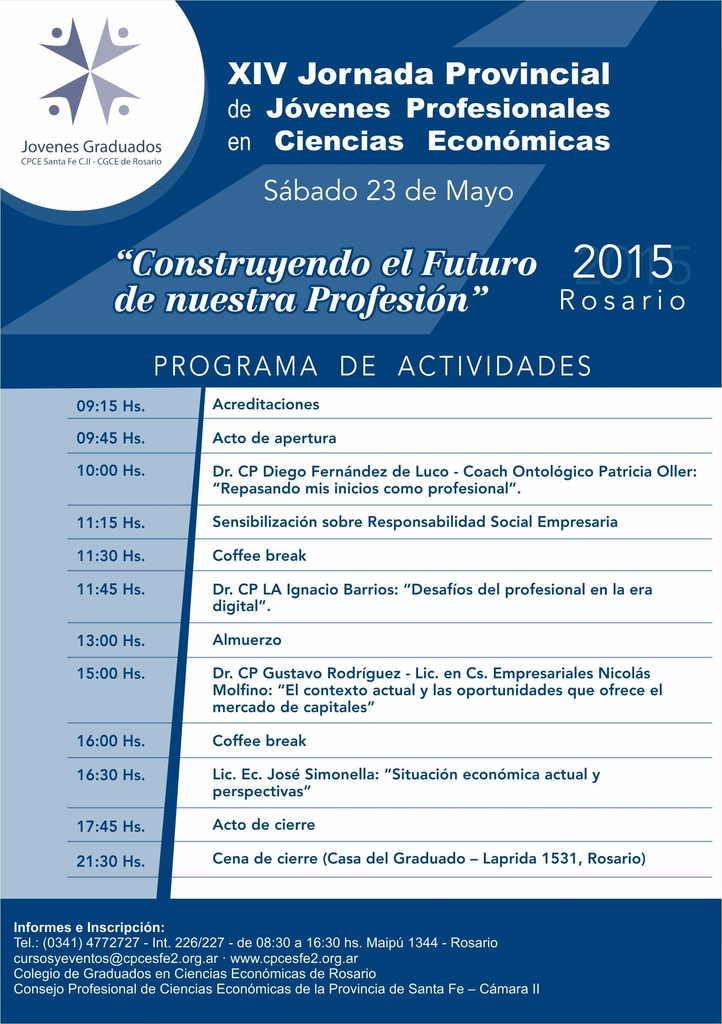 Folleto - XIV Jornada Provincial Jóvenes Profesionales -dorso