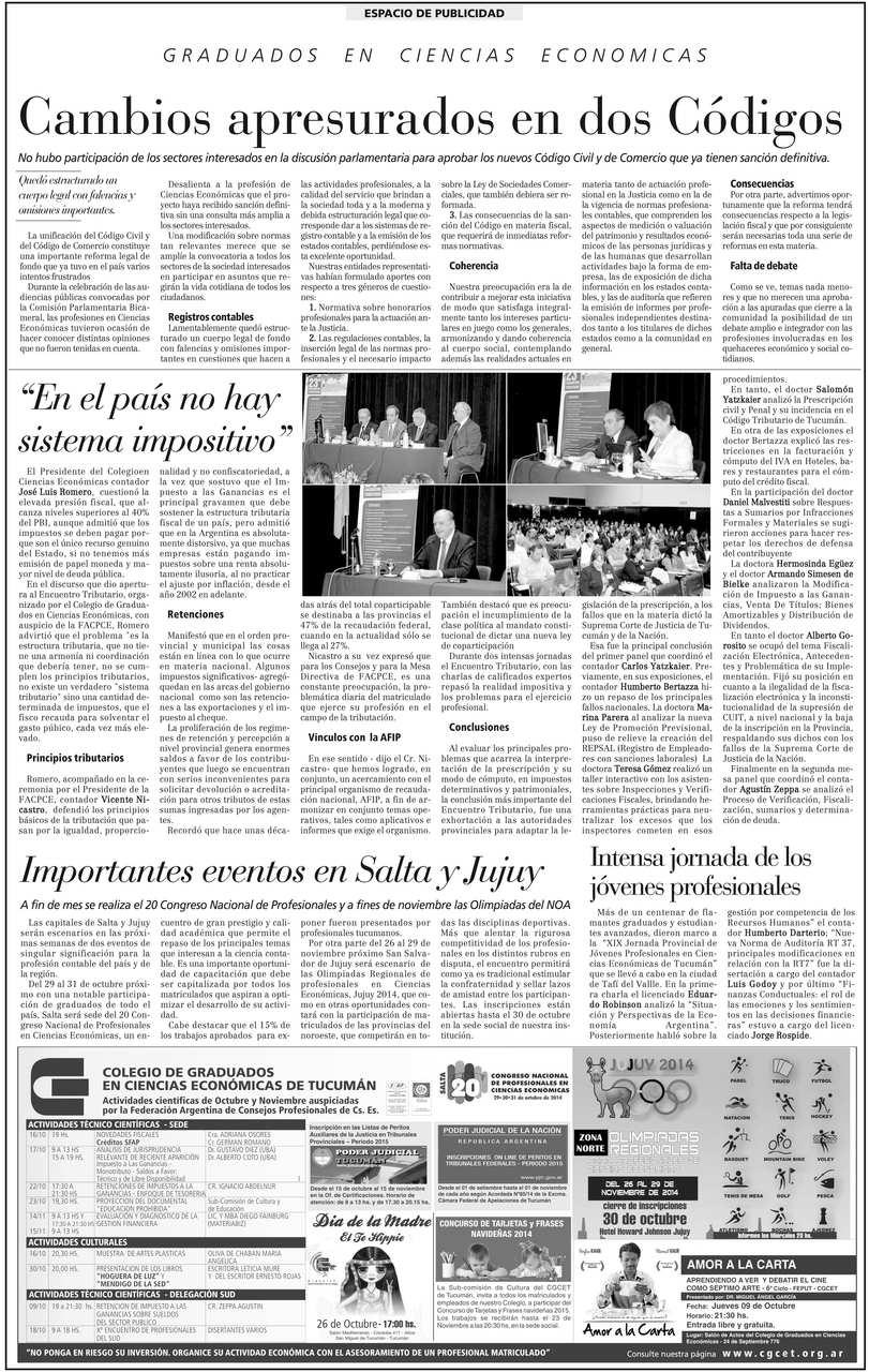 Pagina Colegio La Gaceta - web - OCTUBRE