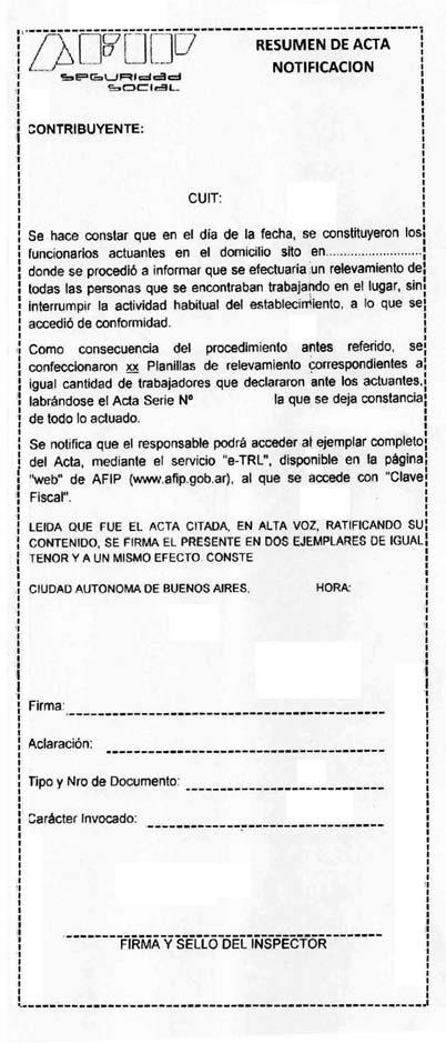 RESUMEN DE ACTA NOTIFICACION