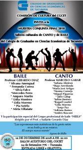 Muestra conjunta final - Talleres de Canto y Baile